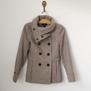 NWOT H&M Taupe Pea Coat